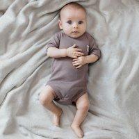 Боди с коротким рукавом Basic коричневый