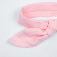 Повязка с бантиком розовая