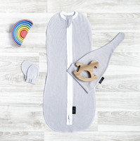Комплект Mjölk White Sand Set {пеленальный кокон, шапочка, антицарапки}