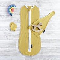 Комплект Mjölk Mustard Set {пеленальный кокон, шапочка, антицарапки}