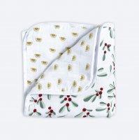 Муслиновое утеплённое одеяло Mjölk Брусника