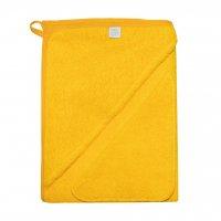 Комплект (Махровая пеленка с уголком+платочек) желтый