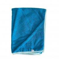 Комплект (Махровая пеленка с уголком+платочек) бирюза