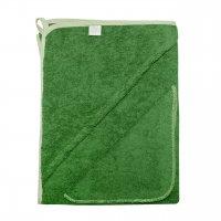 Комплект (Махровая пеленка с уголком+платочек) зеленый
