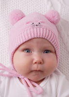 """Демисезонная шапка """"Мышонок Пик"""" розовый"""