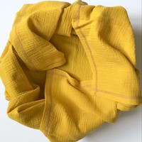 Плед-пелёнка Mustard из муслинового хлопка