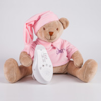 Игрушка с белым и розовым шумом Drema BabyDou Мишка розовый