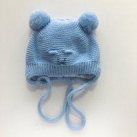 "Демисезонная шапка ""Мышонок Пик"" голубой"