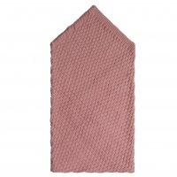 Плед для новорожденного с поясом пепельно-розовый