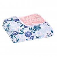 Одеяло из муслинового хлопка Flowers Bloom 112х112 см