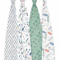 Набор из 4-х муслиновых пеленок Dinotime Essentials