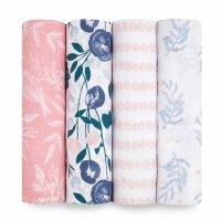 Набор из 4-х муслиновых пеленок Flowers Bloom Essentials