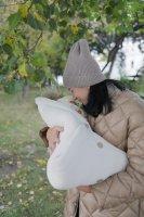 Демисезонный конверт-одеяло Mimibaby молочный