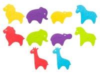 Мини-коврики детские противоскользящие для ванной SAFARI от ROXY-KIDS, 10 шт, цвета в ассортименте