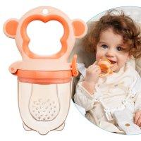 Ниблер для прикорма детский с силиконовой сеточкой Monkey