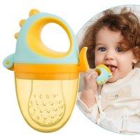 Ниблер для прикорма детский с силиконовой сеточкой Dino