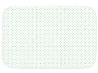 Клеенка подкладная с ПВХ-покрытием ROXY-KIDS 68х100 см, цвет бирюзовый горошек