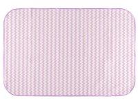 Клеенка подкладная с ПВХ-покрытием ROXY-KIDS 68х100 см, цвет сиреневые зигзаги