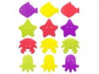 Мини-коврики детские противоскользящие для ванной ROXY-KIDS, 12 шт