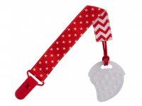 Прорезыватель для детей на держателе ROXY-KIDS, цвет красный