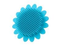 Губка антибактериальная детская массажер для купания Подсолнух, цвет голубой
