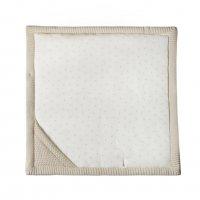 Летний вязаный конверт-плед на выписку Universal Топленое молоко